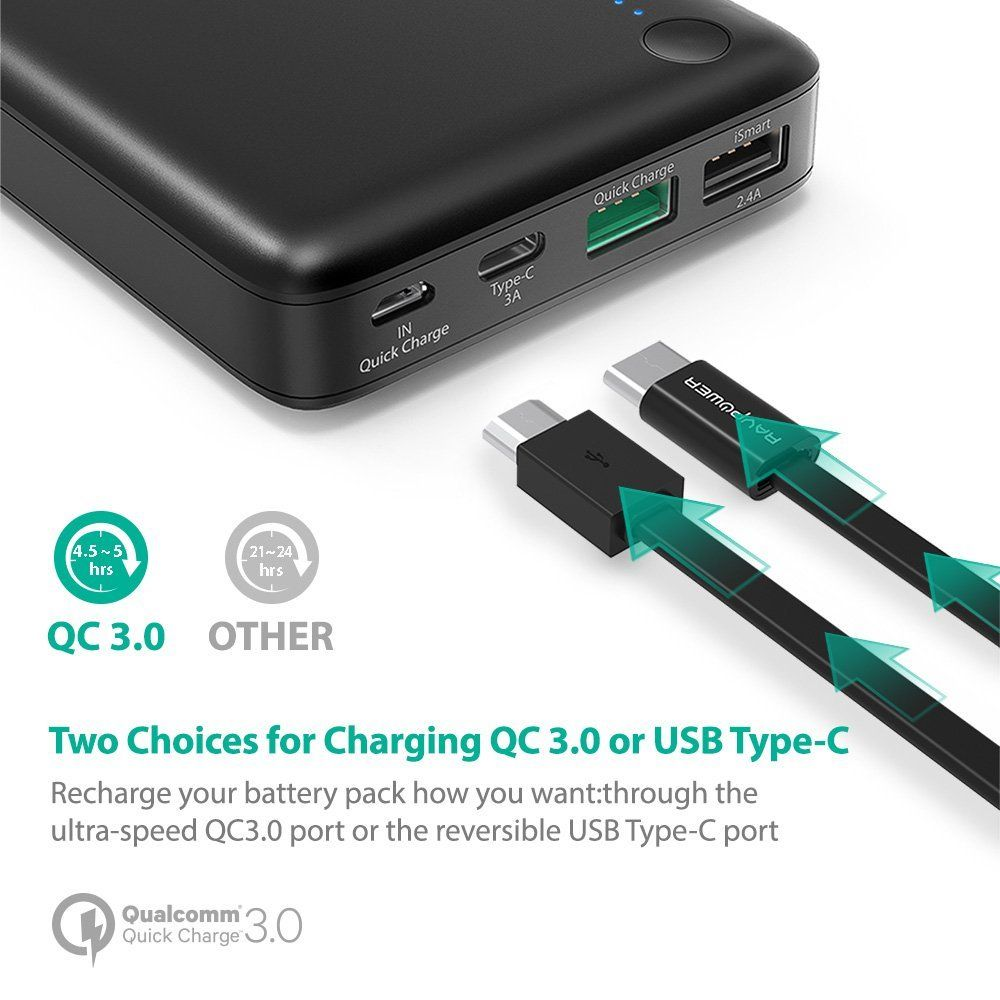 a3b47a154c86a4 RAVPower | ravpower-turbo-20100mah-power-bank-with-usb-c-and-qc-3.0