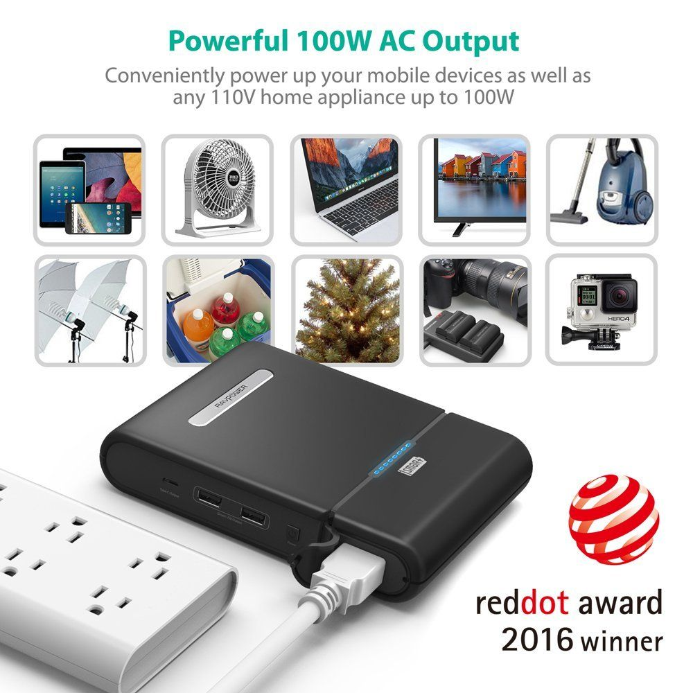 RAVPower - Premium Portable Charger, External Battery, USB