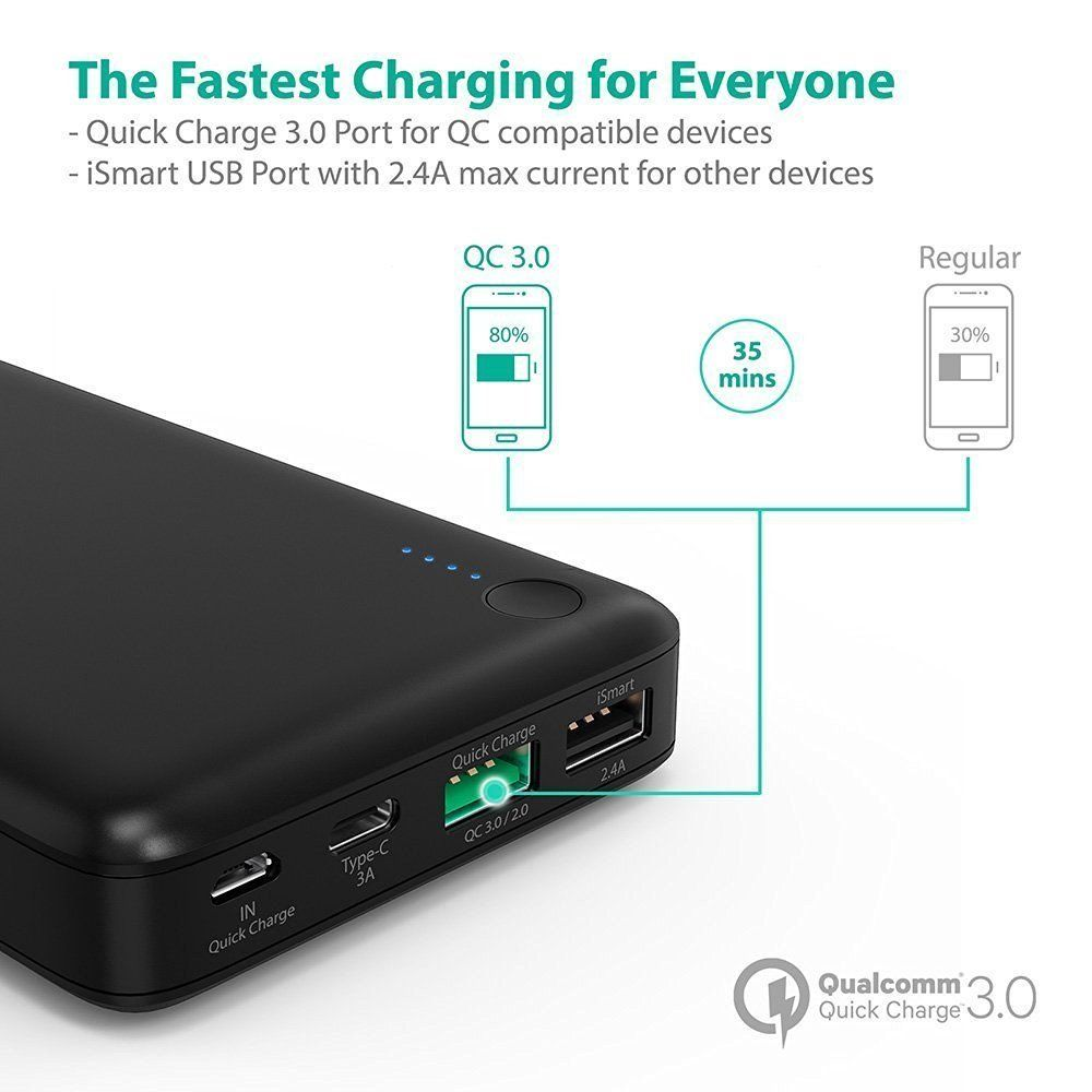 846ab3d7e373ed RAVPower - Premium Portable Charger, External Battery, USB wall charger,  travel charger, car charger, wireless charger, solar charger, cell phone  batteries
