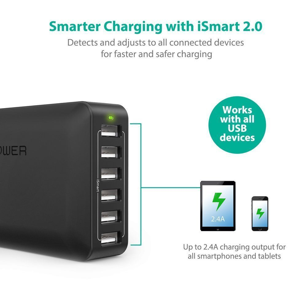 Ravpower Premium Portable Charger External Battery Usb Wall Download Image 1 Watt Led Driver Circuit Pc Android Iphone And Ipad Travel Car Wireless Solar Cell Phone Batteries