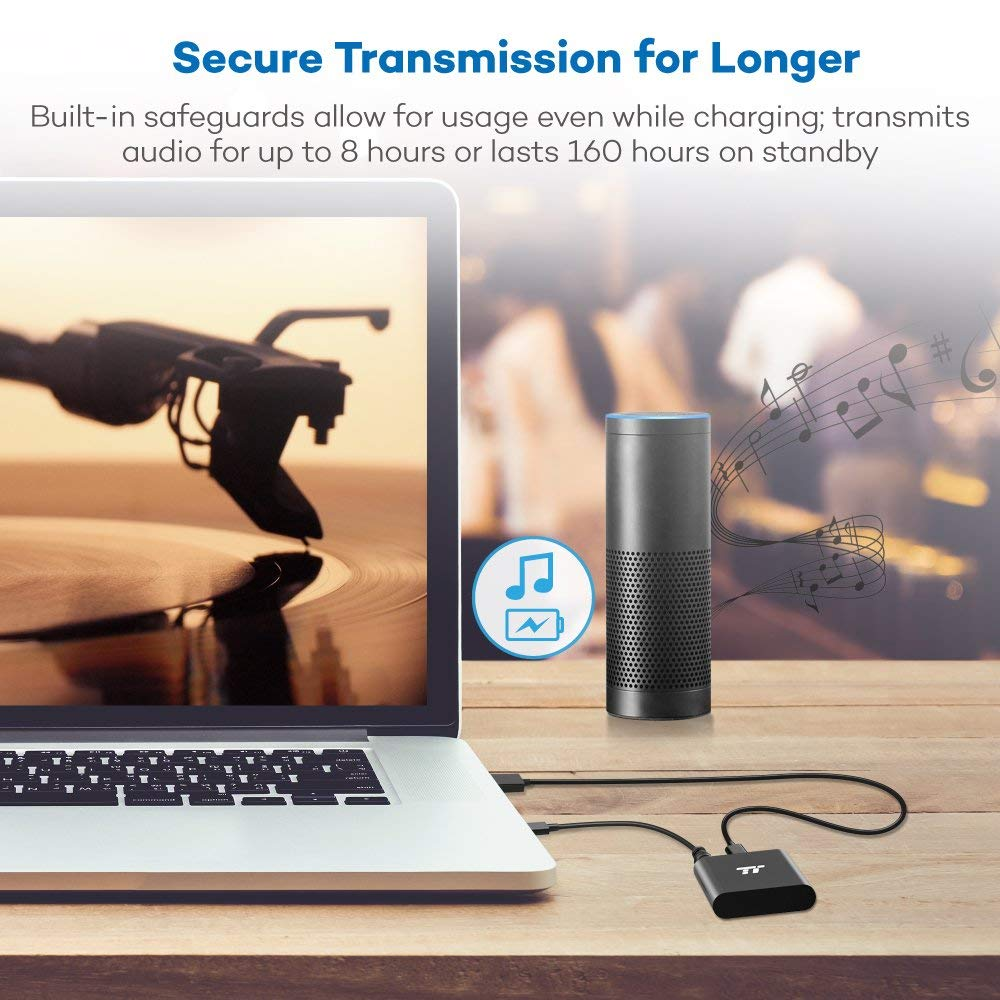 65ft Bluetooth Transmitter Long Range 3 5mm & RCA Wireless